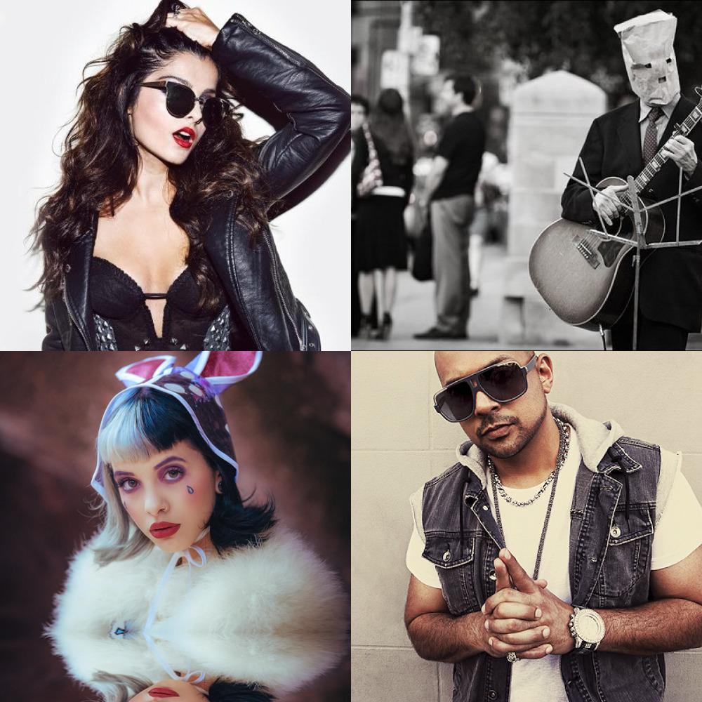 Halsey, Melanie Martinez, Lorde, Lana Del Rey, Hayley Kiyoko, Dua Lipa, Billie Eilish